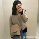 ins韓國東大門2019新款chic簡約百搭時尚單肩小方包斜跨包包女潮 印象家品