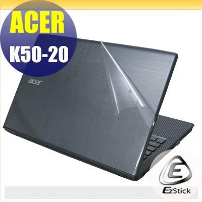 【Ezstick】ACER K50-20 專用 二代透氣機身保護貼(上蓋貼、鍵盤週圍貼)DIY 包膜