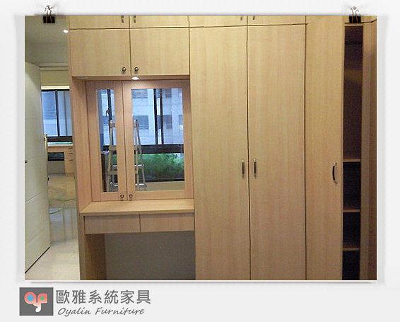 【歐雅系統家具】臥室設計 鏡面化妝台+衣櫥床頭櫃
