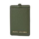 美國正品 MARC JACOBS 魚子醬皮革識別證掛帶票卡夾-軍綠【現貨】