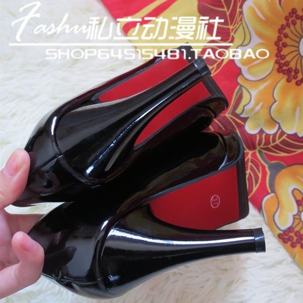 防水台跟鞋 合集 COS萬用多色高跟鞋白色黑色紅色高跟鞋防水台一字系帶 瑪麗蘇