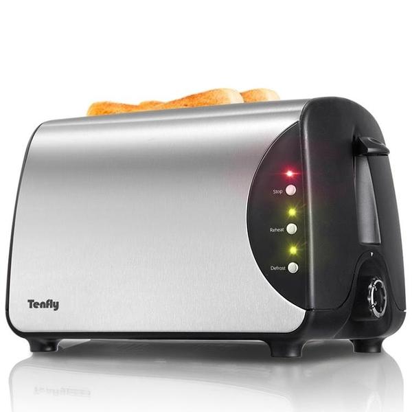 烤面包機家用2片多士爐Tenfly BH8863C 迷你全自動吐司加熱機早餐-享家
