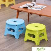 折疊椅子 小圓凳可折疊便攜式家用椅子省空間卡通加厚矮凳戶外塑料板凳  快速出貨