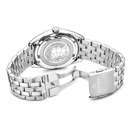 TITONI宇宙系列摩登經典機械腕錶  878 S-606