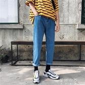牛仔褲2019春季chic牛仔褲男ins超火的褲子直筒bf風帥t潮 蓓娜衣都