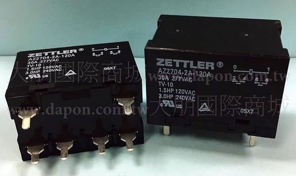 *大朋電子商城*AMERICAN ZETTLER AZ2704-2A-120A 繼電器Relay(3入)