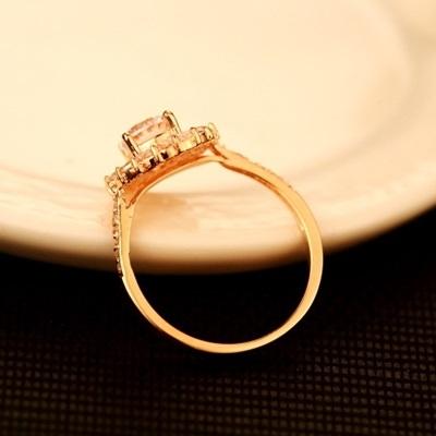 戒指 玫瑰金純銀 鑲鑽-奢華閃亮生日情人節禮物女飾品73by45【時尚巴黎】