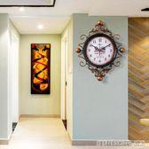 美式客廳鐘錶時鐘掛鐘客廳創意現代簡約家用臥室潮流新款大氣北歐igo 全館免運