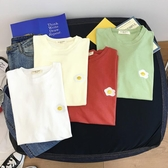 YoYo 新品!短袖T恤女 棉質印花刺繡圖案上衣(2款共14色)Q1035