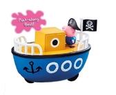 【Peppa Pig 粉紅豬】粉紅豬小妹 交通工具組 爺爺豬的船(含佩佩豬公仔)←扮 家家酒 角色 扮演