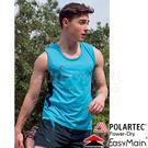 EasyMain 衣力美 VE17017-50藍色 男排汗快乾運動背心 Polartec機能服/透氣休閒T恤/無袖排汗衣