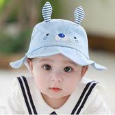 嬰兒盆帽純棉0-3-6-12個月寶寶帽子遮陽帽春天嬰兒漁夫帽防曬帽夏夢想巴士