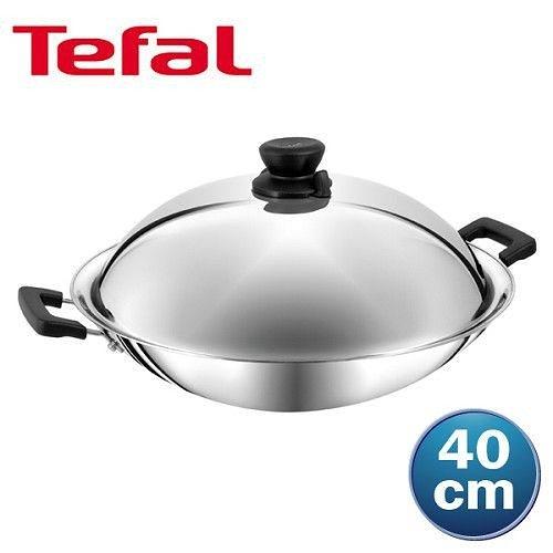 法國特福 超導不鏽鋼系列-中華炒鍋40cm (雙耳)