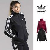 【GT】Adidas Originals 黑酒紅 外套 女款 長袖 運動 休閒 復古 立領 素色 愛迪達 三葉草 基本款 Logo