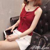 短款外穿韓版時尚修身冰絲針織打底衫內搭小吊帶背心女潮 范思蓮恩