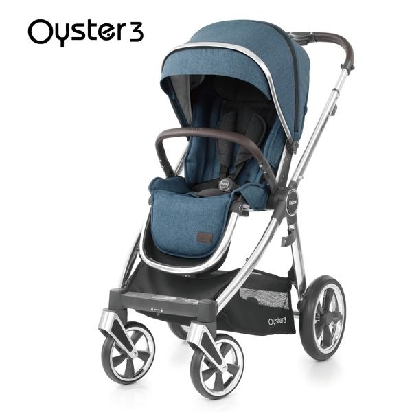 Oyster3 英國雙向嬰幼兒手推車-啞光藍 M-OYSTER3-B0-FF
