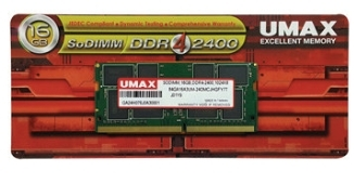【超人百貨X】 UMAX 筆記型記憶體 DDR4 2400 16GB 1024*8 (SO-DIMM DDR4)