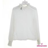 【SHOWCASE】唯美蕾絲高領性感百搭長袖內搭上衣(白)