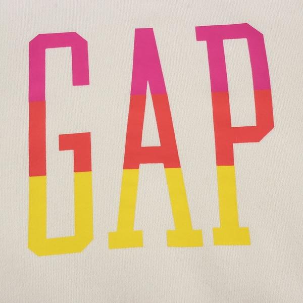 Gap女幼童 Logo碳素磨毛抓絨圓領休閒上衣 656445-象牙白