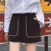 (低價促銷)新款正韓韓版百搭高腰學生運動短褲女春夏季原宿寬鬆闊腿休閒熱褲