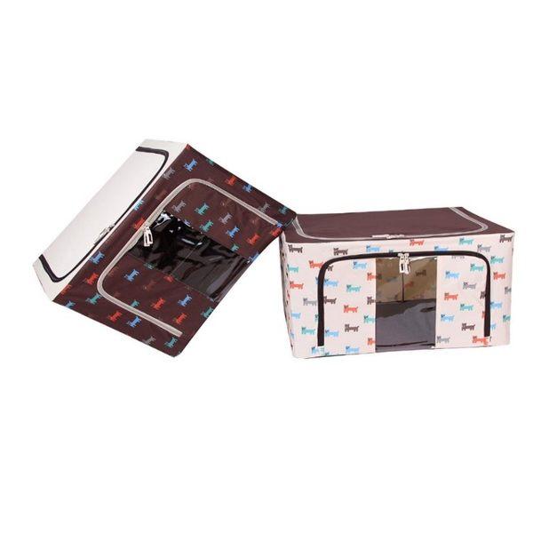 收納箱【BOA039】22L_狗狗款防水牛津布鐵架收納箱(可選色)搬家/開學 收納箱 衣物整理 文具整理