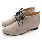 全真皮經典綁帶德比短靴-灰色麂皮‧karine(MIT台灣製)