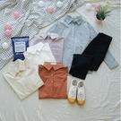 洋芋妹-3552口袋排釦素面挺版長袖襯衫 5色【SB11580】