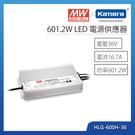 明緯 601.2W LED電源供應器(HLG-600H-36)
