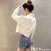 牛仔外套春秋韓版牛仔外套女 新款女裝短款寬鬆薄款長袖夾克春季上衣潮