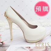 預購 圓頭超高跟鞋推薦 王妃 全羊皮舒適好穿跟鞋 21-25.5 EPRIS艾佩絲