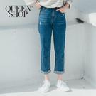Queen Shop【04011383】下反折小直筒牛仔褲 S/M/L/XL*現+預*