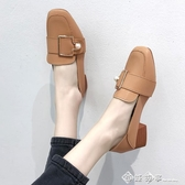 奶奶鞋女網紅鞋子超火ins潮2020新款粗跟中跟小皮鞋春款單鞋女鞋 西城故事