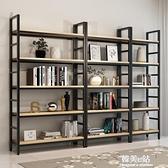 家用鋼木書架鐵藝貨架落地多層置物架書櫃客廳收納架子展示架定做ATF 韓美e站