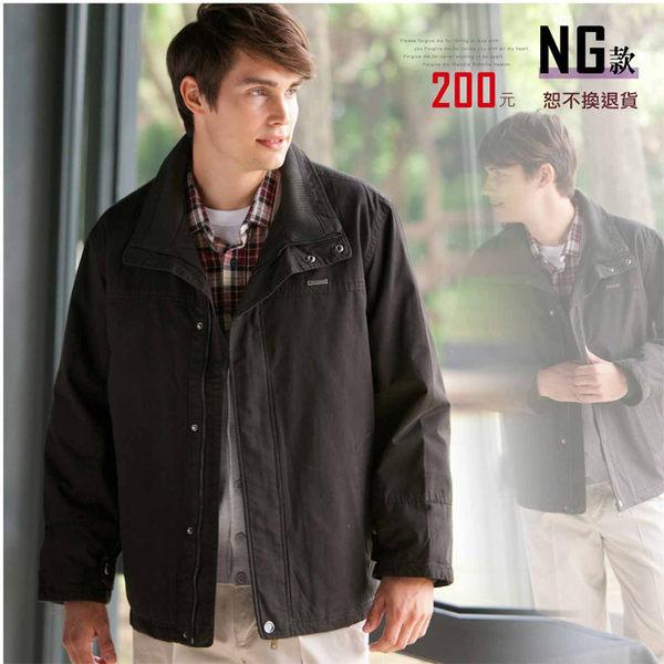 【大盤大】J65981 男 NG商品恕不退換 冬 鋪棉外套 保暖 防風外套 夾克 休閒外套 父親節立領