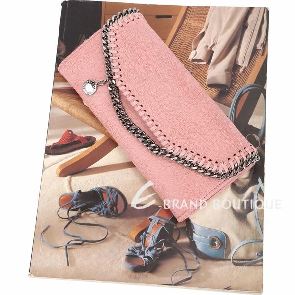 Stella McCartney Falabella Deer 鍊帶皮革釦式長夾(玫瑰粉) 1840155-05