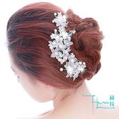 【Hera 赫拉】珠花假花新娘婚紗髮簪/頭飾