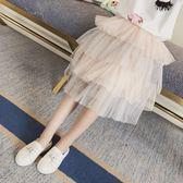 女童半身裙新款網紗寶寶春夏季修身百搭裙子 JD5492【KIKIKOKO】