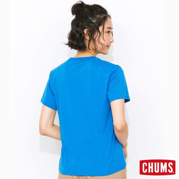 CHUMS 日本 女 Tech 吸濕快排 Breezing 短袖T恤 藍橘 CH111113A001