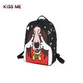 後背包 KISS ME卡通可愛狗狗雙肩女包個性潮流學生書包時尚休閒背包 城市科技DF