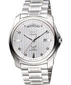 Ogival 愛其華 雅仕真鑽機械腕錶-銀3362AJGS