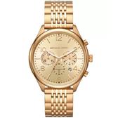 Michael Kors -男士計時梅里克金色不銹鋼手錶