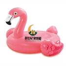 小火烈鳥成人水上坐騎兒童充氣玩具浮排浮床加厚游泳圈【創世紀生活館】