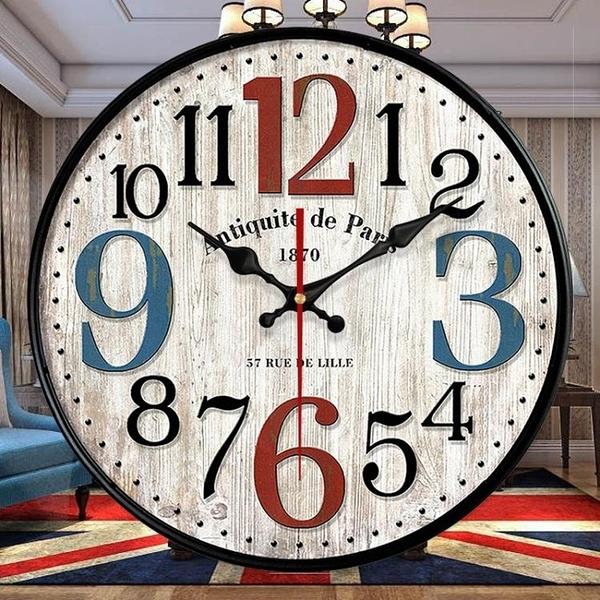 現代輕奢鐘表網紅掛鐘客廳掛表個性創意時鐘簡約時尚時間表鐘掛牆【新春特惠】