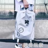 新款韓版原宿背包男女休閒簡約雙肩包潮流個性學生書包旅行包 極客玩家