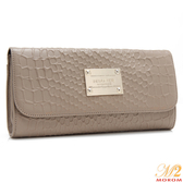 真皮包-MOROM.低調奢華時尚壓紋鍊飾三用包(共二色)123003