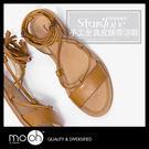 涼鞋 真皮  流蘇繞帶 羅馬涼鞋 綁帶涼...