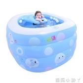 泳池寶寶魚嬰兒游泳池寶寶家用水池保溫加厚新生兒嬰幼兒童充氣游泳桶 NMS蘿莉小腳丫