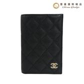 【雪曼國際精品】Chanel 護照夾粒紋小牛皮與淺金色金屬 黑 編號 AP1169 Y33352 C3906~全新商品現