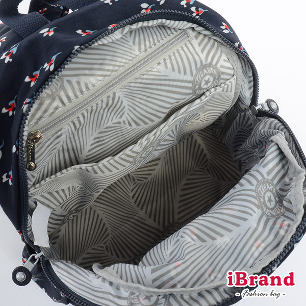 【i Brand 後背包】趣味派對尼龍口袋後背包-小碎花 01318-23