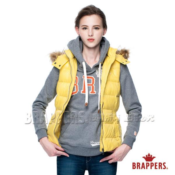 BRAPPERS 女款 腰間抽皺調節釦羽絨背心-黃
